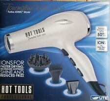 HOT TOOLS Turbo Ionic 1875W Hair Dryer Tourmaline 2400 Light Weigh Quiet HT7015D