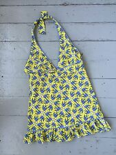 Juicy Couture Girl's Yellow & Blue Halter Bathing Suit w/Skirt – Size: 10