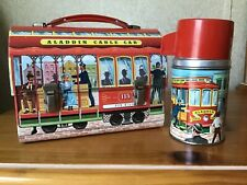 VINTAGE ALADDIN CABLE CAR LUNCHBOX AND THERMOS