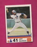 VERY RARE 1983 MONTREAL EXPOS JEFF REARDON  STUART NRMT-MT CARD (INV# A2877)