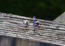 Inspirion Logo Silver Tone Metal & Purple Enamel Lapel Pin Pinback