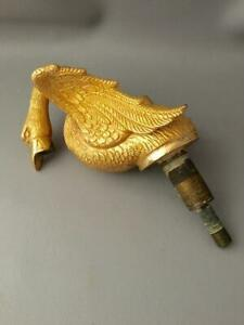 VINTAGE SHERLE WAGNER GOLD SWAN BIRD SINK FAUCET SPIGO HARDWARE