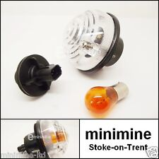 Classic Mini Front Indicator Complete Unit MPi 1996> CLEAR XBD100670 white lens