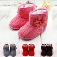 Newborn Baby Infant Toddler Boy Girl Snow Boots Soft Crib Shoes Prewalker Boots