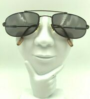 Vintage Nautica Chub Cay Brown Metal Oval Sunglasses FRAMES ONLY