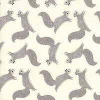 Bramble~by the 1/2 yd~MODA fabric~Gingiber~GRAY GREY squirrel  ON CREAM~48283-21