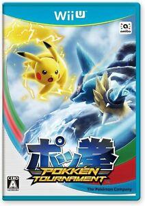Wii U POKKEN TOURNAMENT First Limited Edition w/ Shadow Mewtwo Amiibo Card Japan