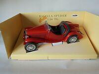 Fiat Balilla Sport Spider 1/16 Diecast Model Polistil Red Mint & Boxed