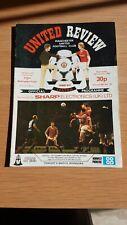 Football Programme  Manchester United v Nottingham Forest  19th January 1983