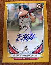 2014 Bowman Robert Hefflinger Gold Autograph /50 #PARH Braves