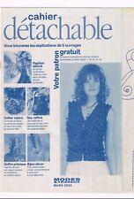Blouse en mousseline de soie & 6 ouvrages. 03/2005,Vintage. Neuf non découpé.