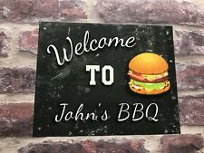 PERSONALISED BBQ SIGN ANY NAME HIGH GLOSS OUTBACK GREAT WEATHERPROOF