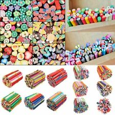 50pcs 3D DIY Cute Stick Polymer Clay Fimo Canes Mixed Styles  Nail Art Stickers