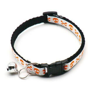Halloween Adjustable Cat Collar With Bell Party Decoration Pet Collars Costume