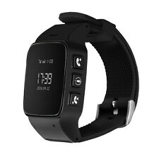 DMDG Watch Phone Security GPS Locator Tracker SOS Alarm for Android IOS Black