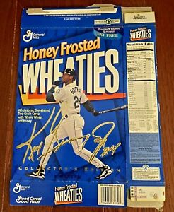 HONEY FROSTED WHEATIES 1996 KEN GRIFFY JR  COLLECTORS EDITION GOLD SIGNATURE