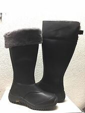 UGG MIKO TALL BLACK WATER RESISTANT LEATHER Boot US 8 / EU 39 / UK 6.5 - NEW