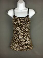 Express Sexy Basic Bra Cami Brown Animal Print Size XS