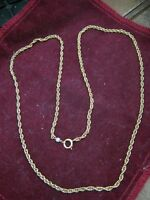 "24"" Prince of Wales 2.5mm 14KT Yellow Gold Chain Necklace w/ One Pearl Tag, 8.8g"