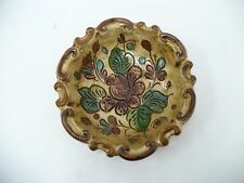 Deruta Hand Carved And Painted Decorative Ceramic Wall Plate