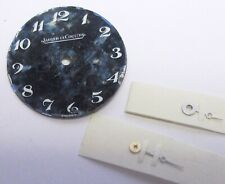 JAEGER-LECOULTRE WATCH DIAL, ROUND, GREEN/WHITE COLOR, WHITE NUMBERS + 4 HANDS