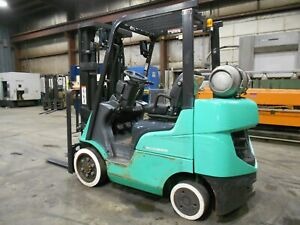 2015 Mitsubishi FGC25N, 5,000#, 5000# Cushion Tired Forklift w/ 3 Stage & SS
