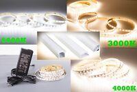 16FT High CRI 95 LED STRIP 6000K 4000K 3000K + Aluminum Channel + 12v UL POWER