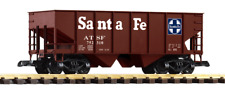 Piko G Scale 38835-876 Two Pack of Santa Fe Hopper Cars (Rib Side)(Covered)