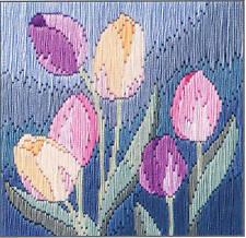 Derwentwater designs silken long stitch kit-tulipes