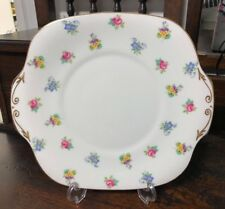 Crown Staffordshire Pink Rose / Pansy 25.5cm Serving/ Cake Plate  Pattern 15728