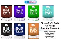 Silvine Refill Pad A4 160 Pages Ruled/5mm Square/Graph perforated punched 4 hole