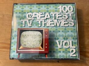 100 GREATEST TV THEMES VOL.2 (Various Composers) OOP '07 Soundtrack Score 4CD EX