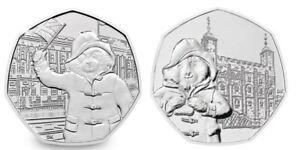 2 x 50p Coin - Paddington Bear - Fifty Pence - 201819 New Uncirculated Coins