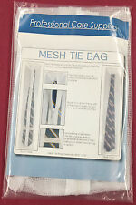"3 Laundry Wash Mesh Zipper Tie Net Bags 30 x 5 1/4"" Protects Tie during Cleaning"