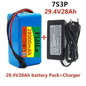 24V 28Ah Battery 2800mah Lithium Electric Bicycle Battery Pack BMS + Charger