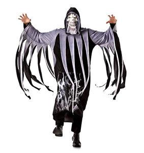 Adult Mens Grim Reaper Phantom Halloween Fancy Dress Costume Death Robe Outfit
