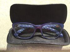 Authentic CHANEL  Blue Eyeglass frames w/case