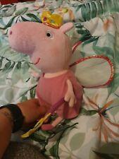 "Ty Princess Peppa Pig Fairy Soft Plush Toy 6-8"" 2014"