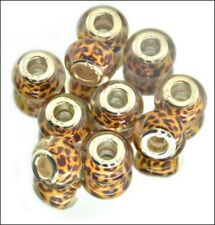 0Leopard Print Large Hole Beads