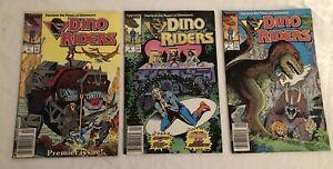 Marvel DINO RIDERS COMICS 1, 2, & 3 NEWSTAND c1989 Don Perlin Cover Kelley Jones