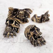 CooB EDC Paracord Bead Beads ZOMBIE PIRATE SKULL Jack Sparrow Bracelet KeyChain