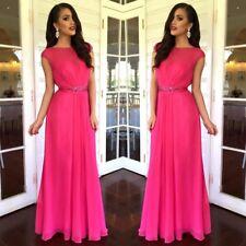 Maxi  Dress Chiffon Size 12 Formal Wedding Maroon Colour