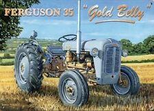 New 15x20cm Ferguson 35 Gold Belly Tractor enamel style metal advertising sign