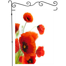 Red corn poppy flower Garden Flag House Yard Banner Decor