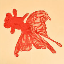1pc Plus Big Red Goldfish Patch Applique DIY Sewing Embroidered Patch Home Decor