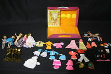 Vintage Lot of 5 Topper DAWN DOLLS w/Case, 20pc+ Wardrobe, Shoes, Accessories