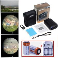 Handheld 6x Golf Range Finder Speed Measure Scope Golfscope+Battery Kit