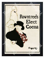 Historic Rowntrees Elect Cocoa Advertising Postcard
