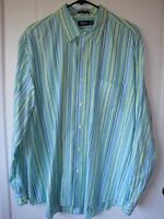 BASS Mens Shirt XL 100% Cotton Premium Poplin Striped CLASSY!