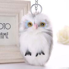 1PC Plush Soft Handbag Keyrings Car Keychain Owl Pendant Key Charm Pom Fluffy